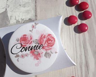 Bridesmaid Favour Pocket Mirror & Gift Box