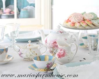 TEA CUP, Vintage Porcelain, Tea Cup and Saucer by Moritz Zdekauer (MZ) Czechoslovakia, Replacement China, Little Princess Tea Party