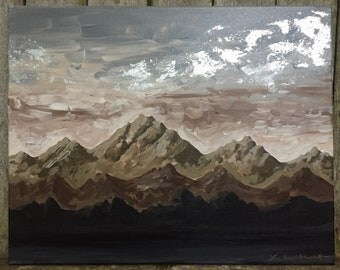 Mocha Mountains / Original Mountain Painting
