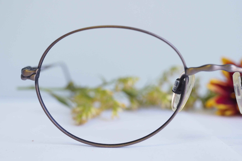Vintage Eyeglass 1990\'s Oval shape Frames New Old Stock Glasses By ...