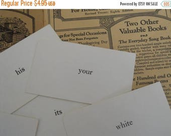 ON SALE 25% OFF 20 Vintage Word Flash Cards Classic Basic Sight Words Vocabulary Flash Cards