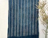 Vintage Indigo fabric Textile Mali Indigo African Indigo Fabric, Indigo Blue Fabric, Cotton Shawl, Tribal Boho Wall Decor Tribal Fabric #89