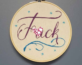 F*ck embroidery