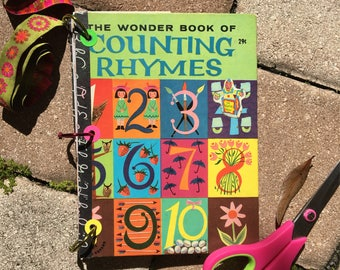 Old Children's Book Journal / Junk Journal / Art Journal Notebook - Vintage
