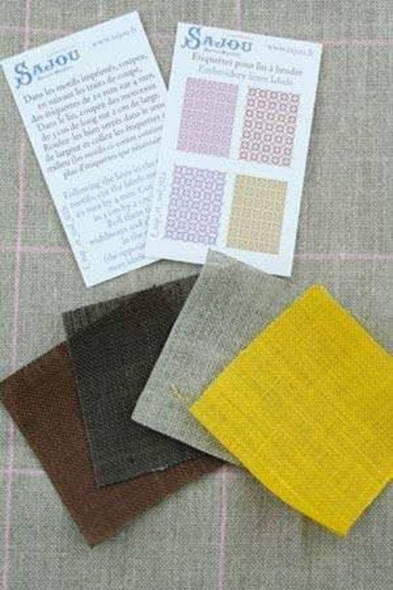Haberdashery linen assortment of Sajou, DIY kit in miniature for the Doll House, dollhouse miniatures, yellow