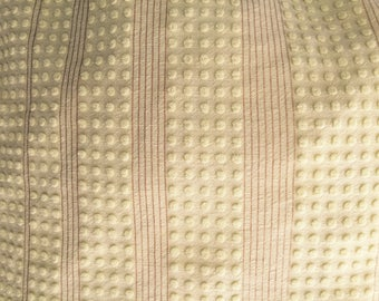 Vintage Yellow Dot Gold Threads Chenille Bedspread Fat Quarter