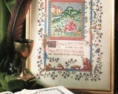 "Cross Stitch Pattern - ""The Illuminated Manuscript"" from Cross Stitch and Country Crafts, Jan/Feb 1990"