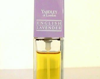Vintage Perfume 1980s English Lavender by Yardley 3/8 oz Eau de Cologne Spray Classic Women's Fragrance