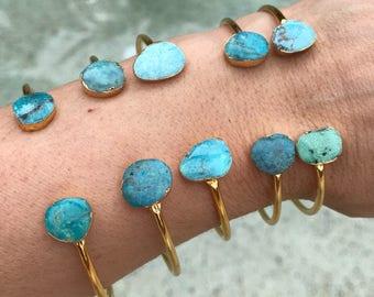 Turquoise cuff bracelets, turquoise jewelry , December birthday, December birthstone