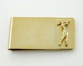 Golfer Money Clip - Vintage Money Clip