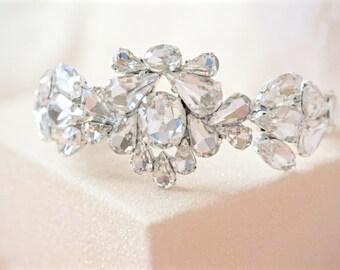 Rhinestone Cuff Bracelet,Bridal Cuff Bracelet,Wedding Cuff Bracelet,Crystal Cuff Bracelet,Bridal Jewelry,Wedding Jewelry,Rhinestone Jewelry