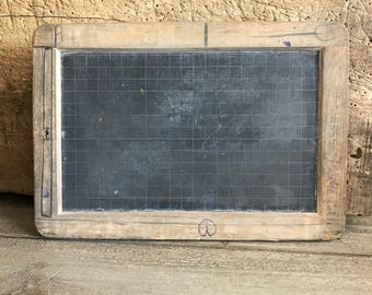 French Slate Chalkboard, Vintage Schoolhouse, Cafe Message Board, French Farmhouse