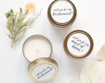 Bridesmaid Proposal Candle, Bridesmaid Proposal Idea, Be My Bridesmaid, Maid of Honor Gift, Personalized Bridal Party Gifts, Proposals