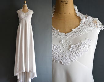 Gal / 70s wedding dress / 1970s wedding dress