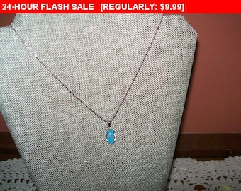 Vintage flower pendant necklace, vintage necklace