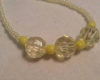 Sunny Bright Yellow Necklace
