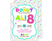 Donut Sprinkles Birthday Party Invitation | Printable OR Professionally Printed | 5x7