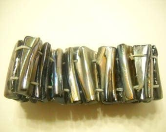 Vintage Abalone Stretch Bracelet (3833)
