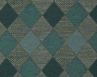 Teal Upholstery Fabric   Modern Teal Geometric Fabric For Furniture  Upholstery   Custom Teal Grey Diamond