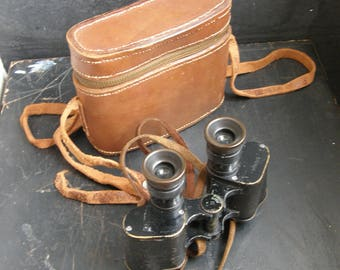 Antique military Binoculars ,Leather case,possibly carl zeiss make ,steam punk,  great condition,  , Free uk postage