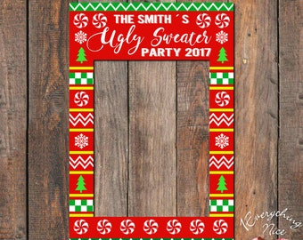 photo booth printable christmas pdf frames