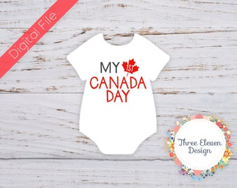 My First Canada Day Printable Iron On Image