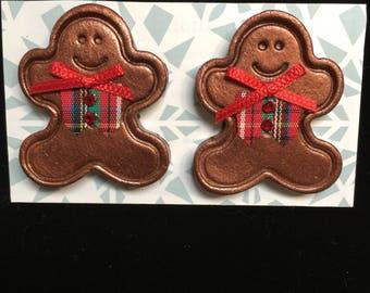 Metallic Gingerbread Earrings