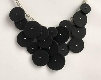 Bubble Necklace in Matte Black