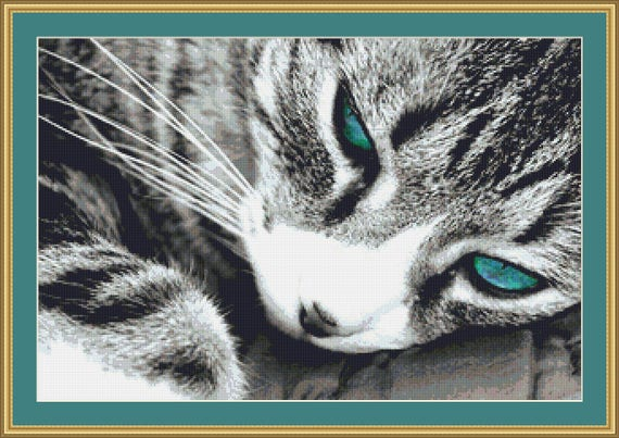 Whiskers Cross Stitch Pattern /Digital PDF Files /Instant downloadable