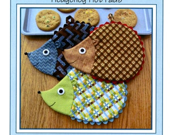 PATTERN:  Hedge Fun ! - Hedgehog Hot Pads - ST-1421 - Hedgehogs - Pot Holders - Kitchen - Mug Rug - Hot Pads - Oven Mitts - by Susie Shore