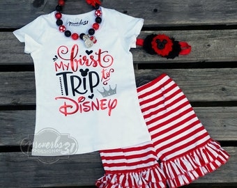First Trip to Disney- Girl's Outfit
