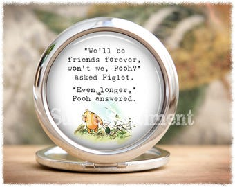 Best Friend Gift • Compact Mirror • Make Up Mirror • Friendship Gift • Long Distance Friendship • Gifts For Sisters • Mirror Compact