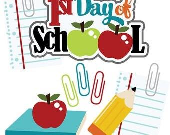 School die cuts, back to school, first day of school, school scrapbook, kindergarten, first grade, second grade, third grade, fourth grade