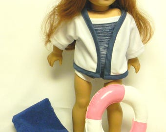 Blue Swimsuit For 18 Inch Doll Like The American Girl