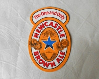 Vintage Newcastle Brown Ale Coaster Beer drip Mat The One and Only Breweriana double sided Nut Brown