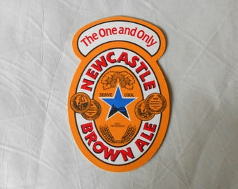 Vintage Newcastle Brown Ale Coaster Beer drip Mat The One and Only Breweriana double sided