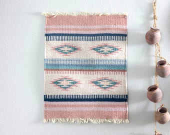 RESERVED for Jessica // Vintage Native American Pastel Tapestry