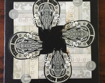 2017 Cigar Band Collage Coaster: Iron Horse