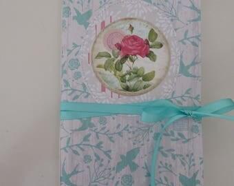 "Midori Traveler's Notebook Insert Junk Journal One Signature ""Faded Rose"""