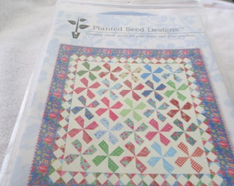 """Paper Pattern for a quilt called Gypsy Girl by Planted Seed Designs 72"""" square"""