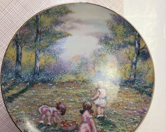 Picking Flowers  Collectors Plate