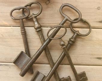 Vintage Large Gate key 6.2 inches - Iron gate key - wedding gift