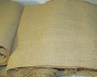 Burlap fabric - 180 inches x 12 inches wide - Burlap Table Runner fabric