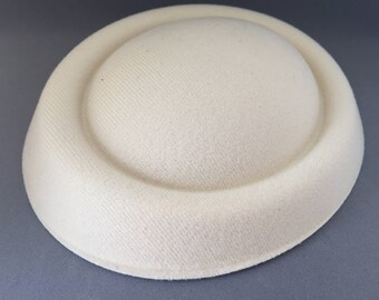 Felt hat base, pillbox hat base, fascinator, cream felt hat base