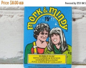 ON SALE Vintage Mork and Mindy Trading Cards. New In Package.Robin Williams and Pam Dawber. Sitcom Comedy Magic. Great TV Shows. 1970's Coll