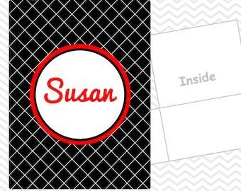 Personalized Boxes Folder - Custom School Folder - Folder with Name - Back to School Gift