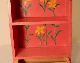 Pink table top knick knack shelf