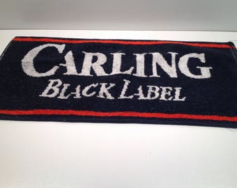Vintage Carling Black Label Bar Towel