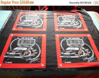 """ON SALE 2003 Dale Earnhardt # 3 NASCAR """"The Intimidator"""" Fabric Spring Industries Inc. Cotton, Racing, Sports, Red, Black , 44"""" W  by 17 1/2"""