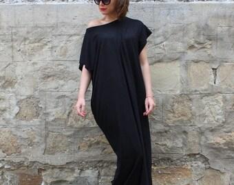 SALE ON 20 % OFF Black Maxi Dress, Plus Size Maxi Dress, Plus Size Black Dress, Off Shoulder Dress, Size S-4x Dress, Beach Dress, Boho Dress